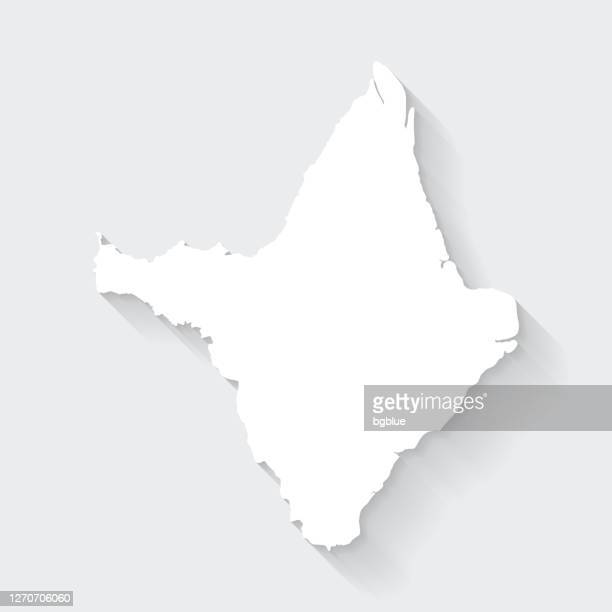amapa map with long shadow on blank background - flat design - amapá state stock illustrations