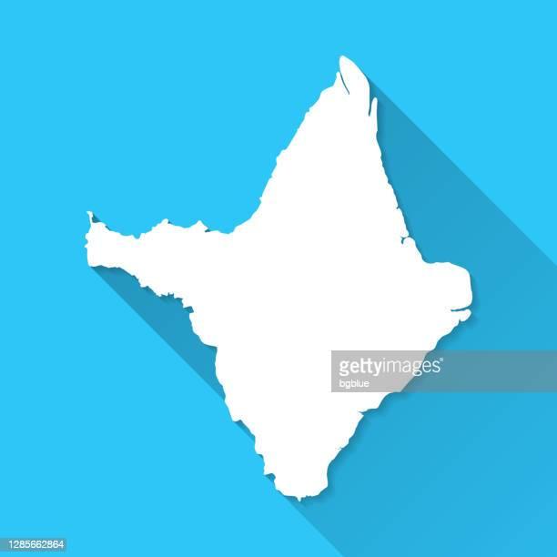 amapa map with long shadow on blue background - flat design - amapá state stock illustrations