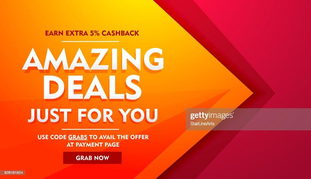 amazing deals sale offer banner