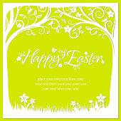 Amazing Easter Eggs Plant Paper Cut Art