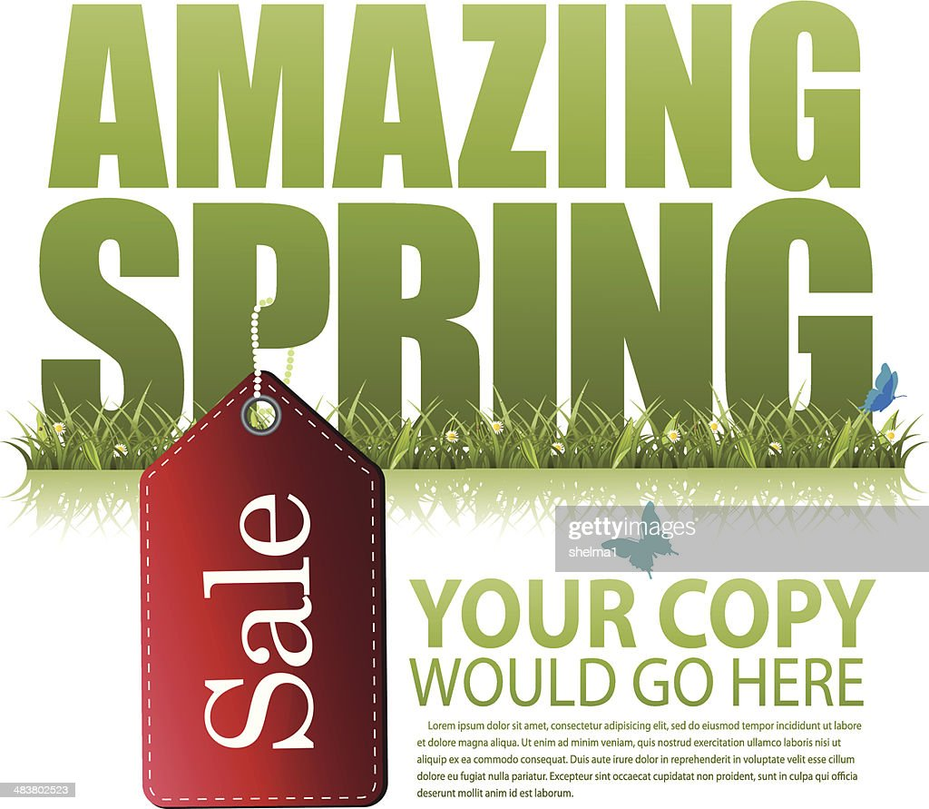 Amazing spring sale marketing template
