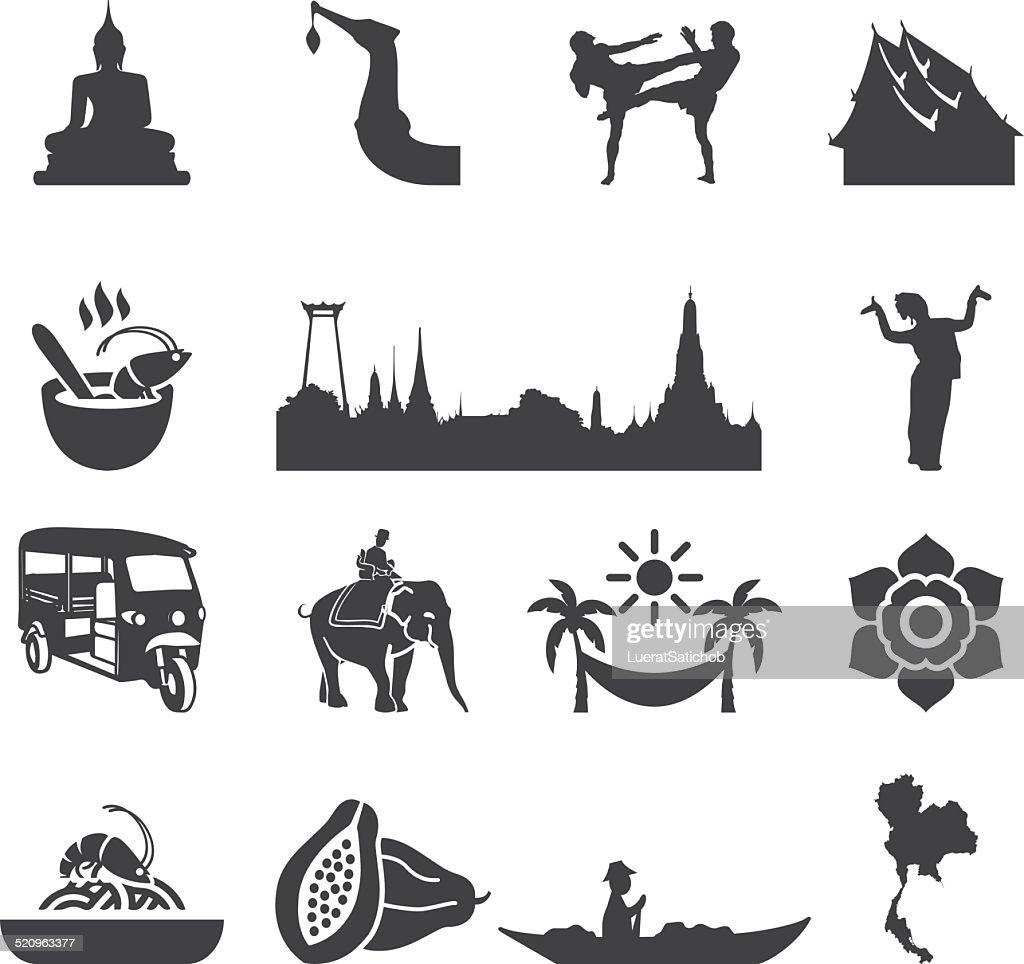 Amazing Thailand Silhouette icons   EPS10 : stock illustration