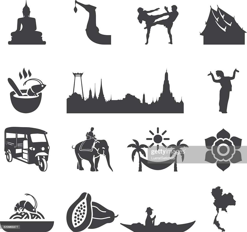 Amazing Thailand Silhouette icons | EPS10