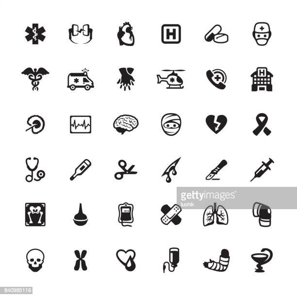 Ambulance and Emergency Services - icons set