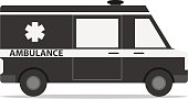 Ambulance car, icon of ambulance
