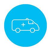 Ambulance car line icon
