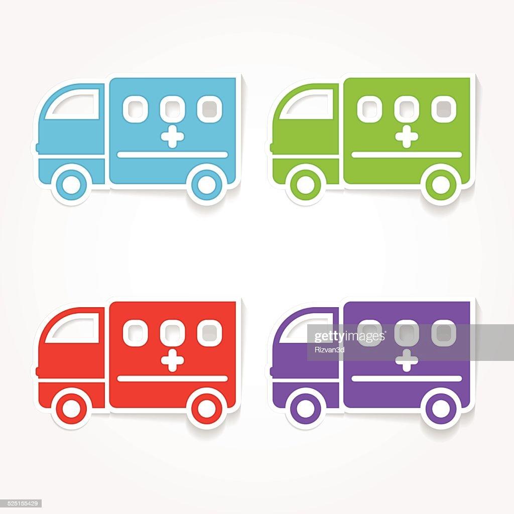 Ambulance Colorful Vector Icon Design