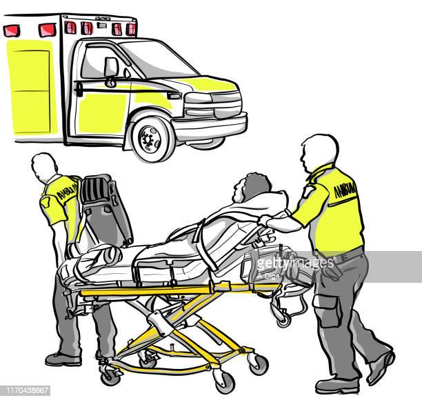 ambulance crash victim - ambulance stock illustrations