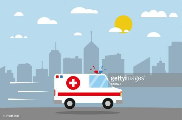 ambulance flat design - ambulance stock illustrations