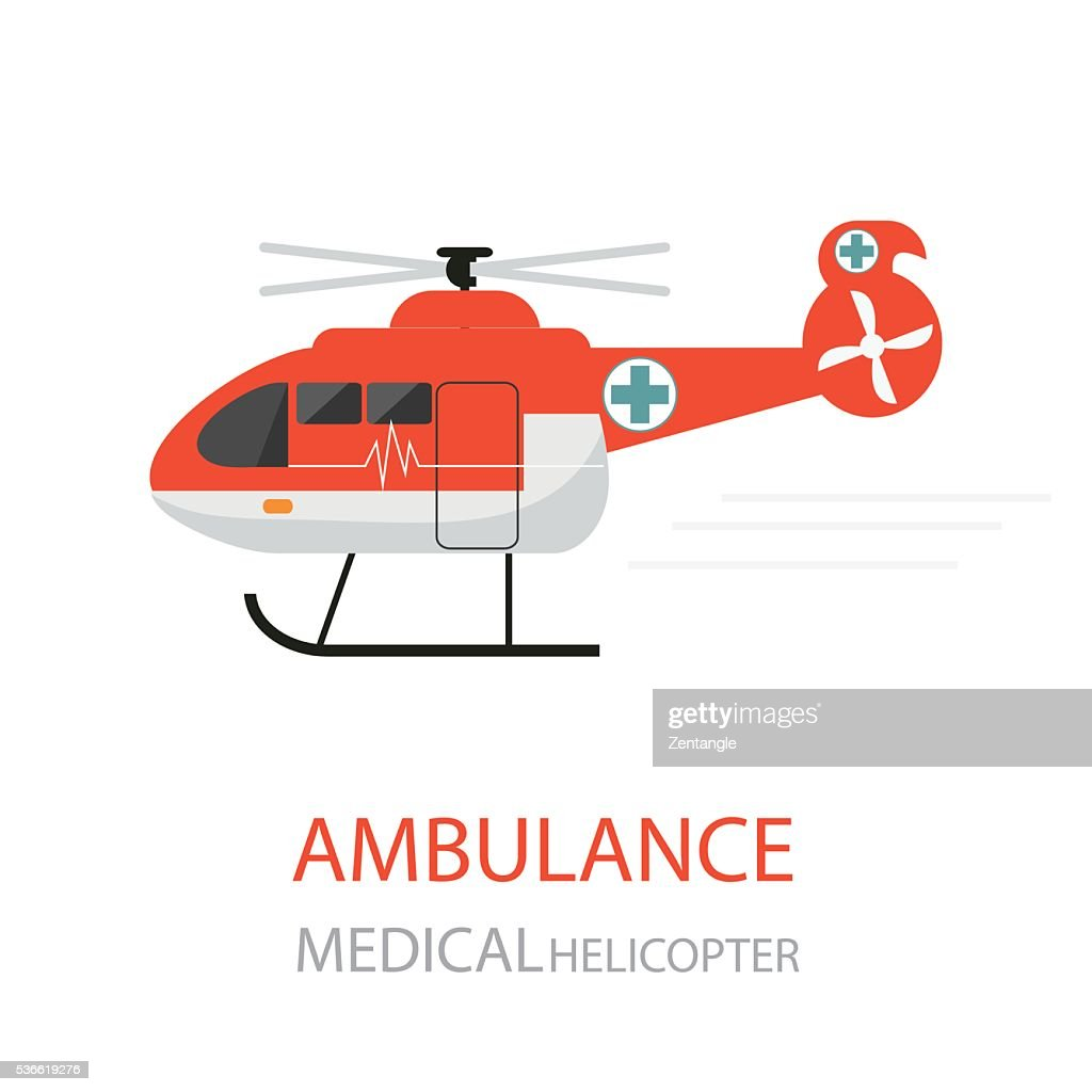 Ambulance helicopter emergency medical service.