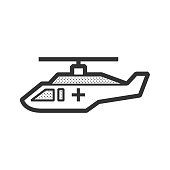 ambulance helicopter icon vector