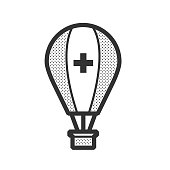 ambulance hot air balloon icon