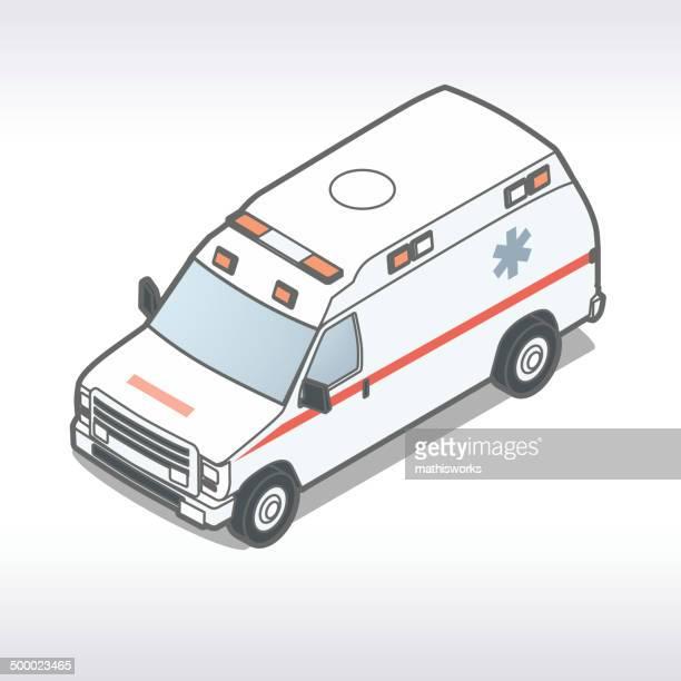 ilustrações de stock, clip art, desenhos animados e ícones de ilustração de ambulância - mathisworks