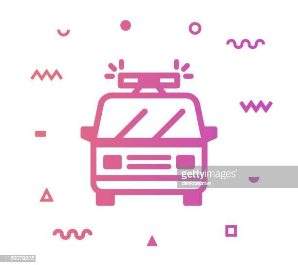 ilustraciones, imágenes clip art, dibujos animados e iconos de stock de diseño de icono de estilo de línea de ambulancia - piloto de coches de carrera