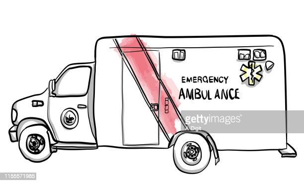 ambulance medical transport - ambulance stock illustrations
