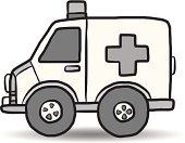 ambulance vehicle cartoon
