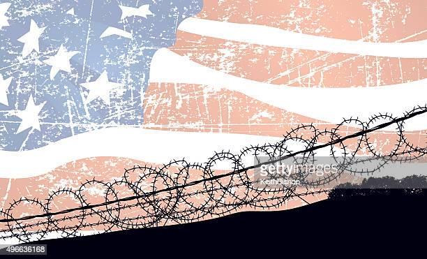 En Norteamérica, de guerra fondo de bandera de los Estados Unidos