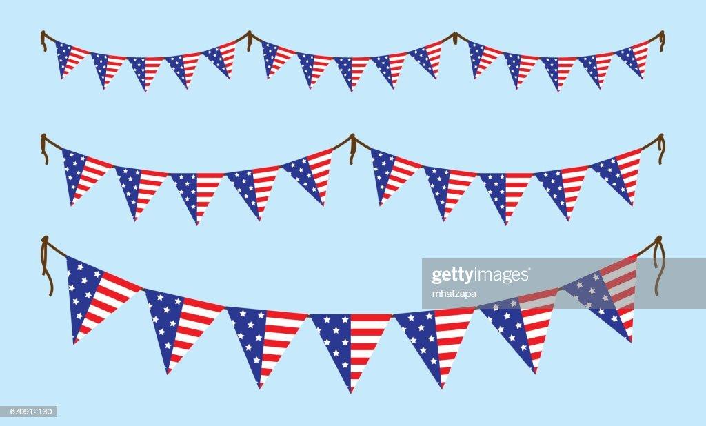 America bunting flag