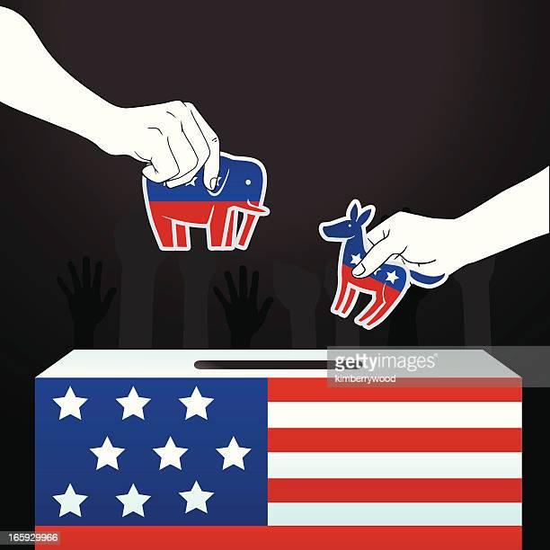 america election - donkey stock illustrations, clip art, cartoons, & icons