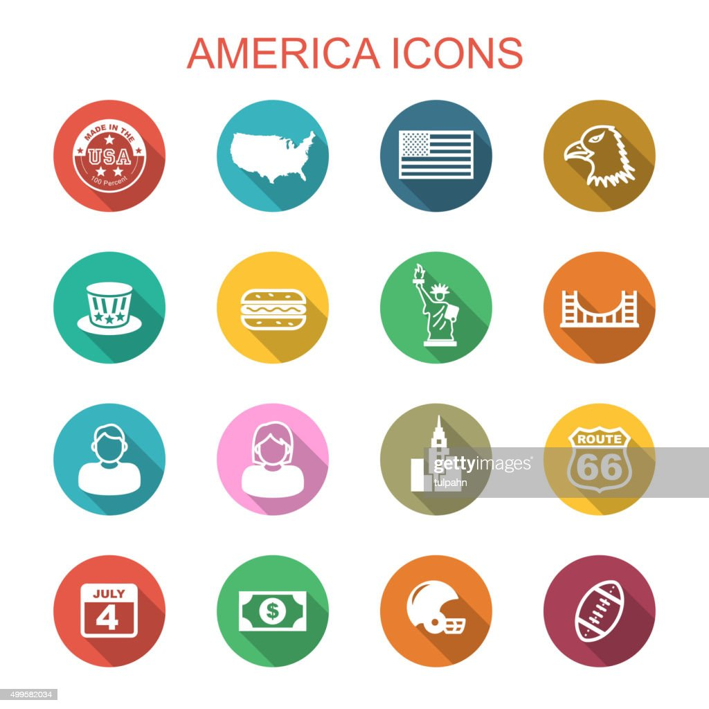 america long shadow icons