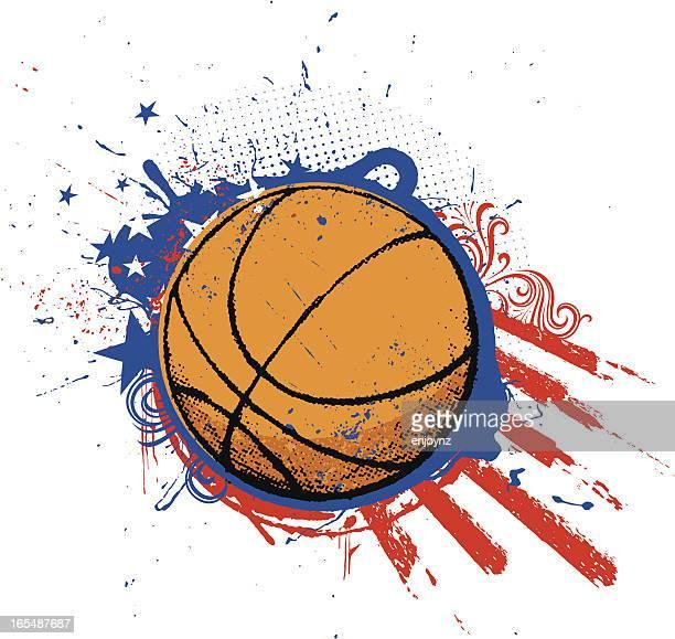 illustrations, cliparts, dessins animés et icônes de american basketball - ballon de basket
