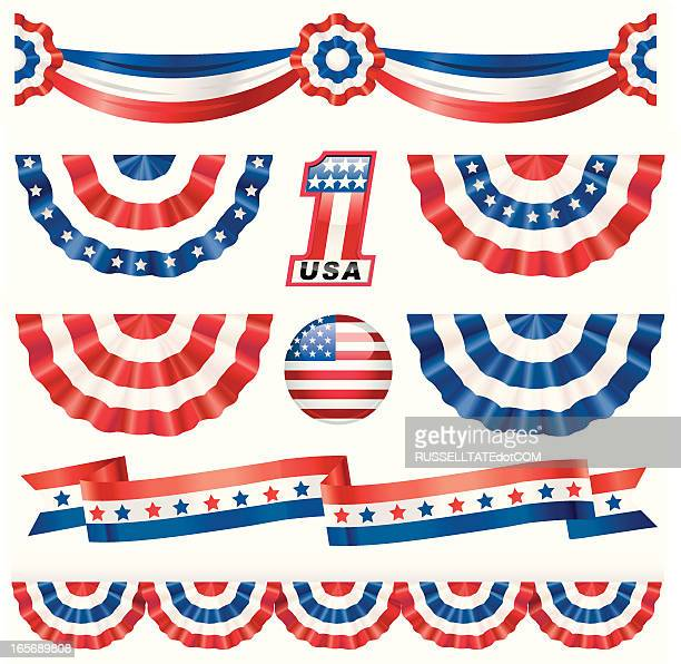 american bunting - presidential candidate stock illustrations