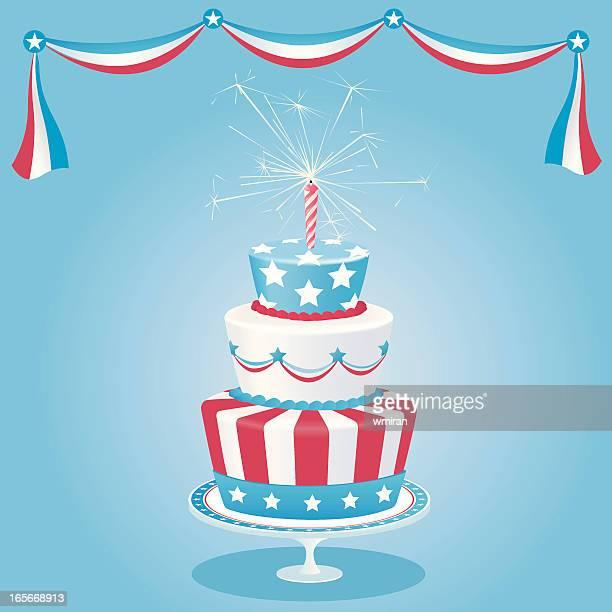 illustrations, cliparts, dessins animés et icônes de gâteau américain - gateau anniversaire