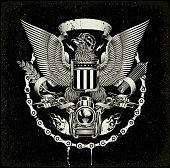 american coat of arms - Biker eagle