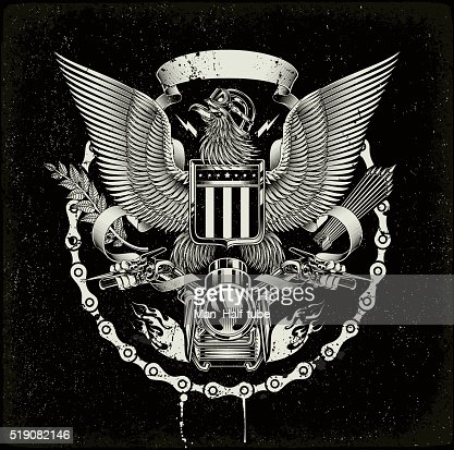 american coat of arms biker eagle highres vector graphic