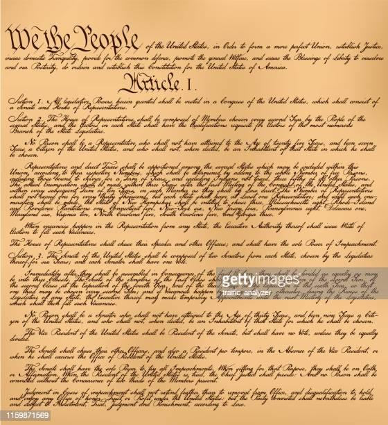 american constitution - bill of rights stock illustrations