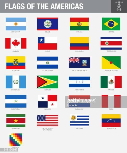 アメリカン・カントリー・フラッグス - エルサルバドル国旗点のイラスト素材/クリップアート素材/マンガ素材/アイコン素材