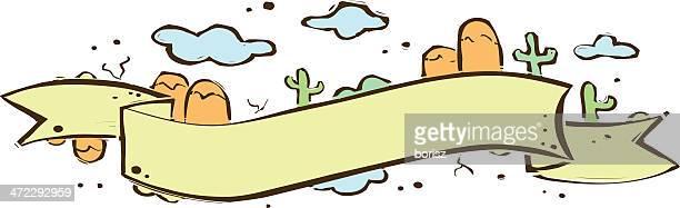 american desert banner - sash stock illustrations
