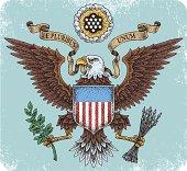 American eagle emblem illustration