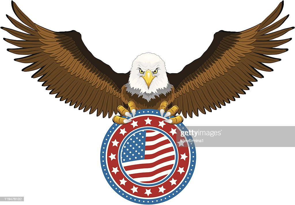 American Eagle Holding US Flag