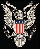 American Eagle Linework Vector