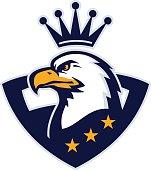 American eagle mascot.