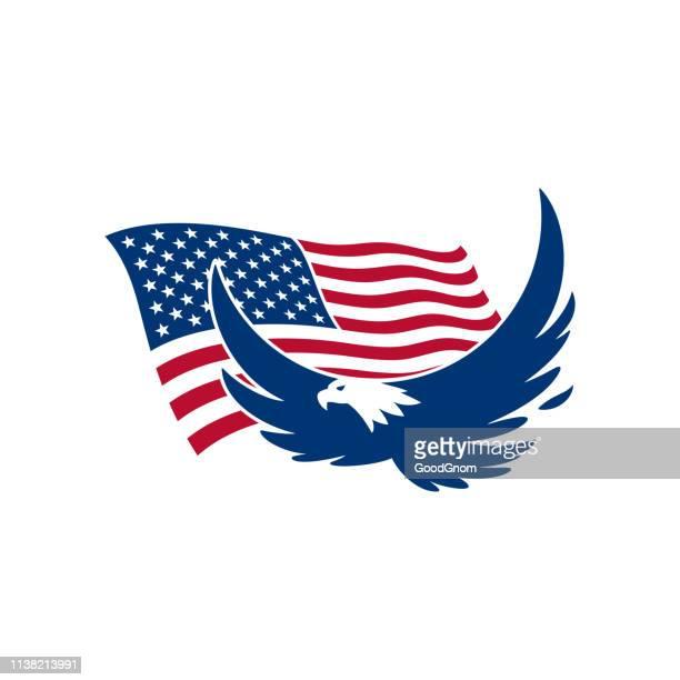 illustrations, cliparts, dessins animés et icônes de aigle américain - aigle