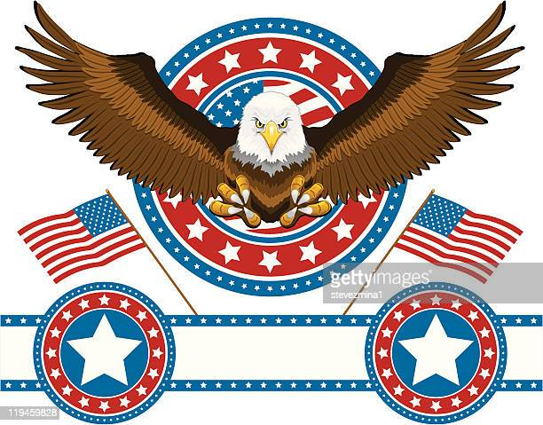 american eagle - president stock illustrations, clip art, cartoons, & icons