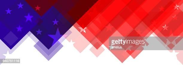 ilustraciones, imágenes clip art, dibujos animados e iconos de stock de diseño abstracto bandera estadounidense - independence