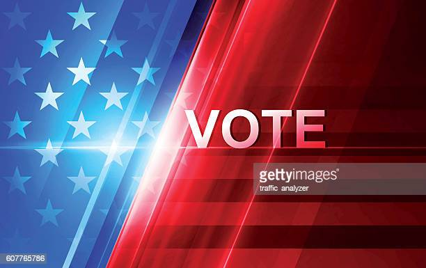 american flag background - election stock illustrations
