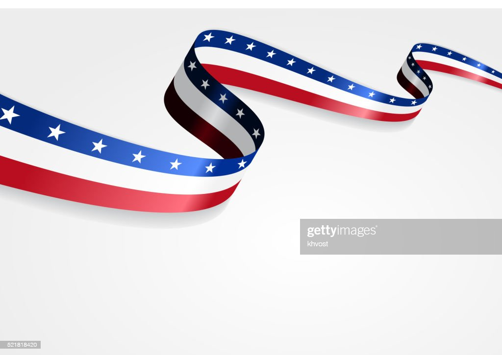 American flag background. Vector illustration