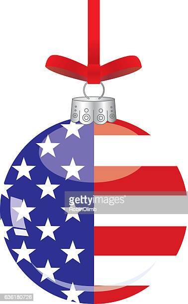 american flag christmas ornament - patriotic christmas stock illustrations