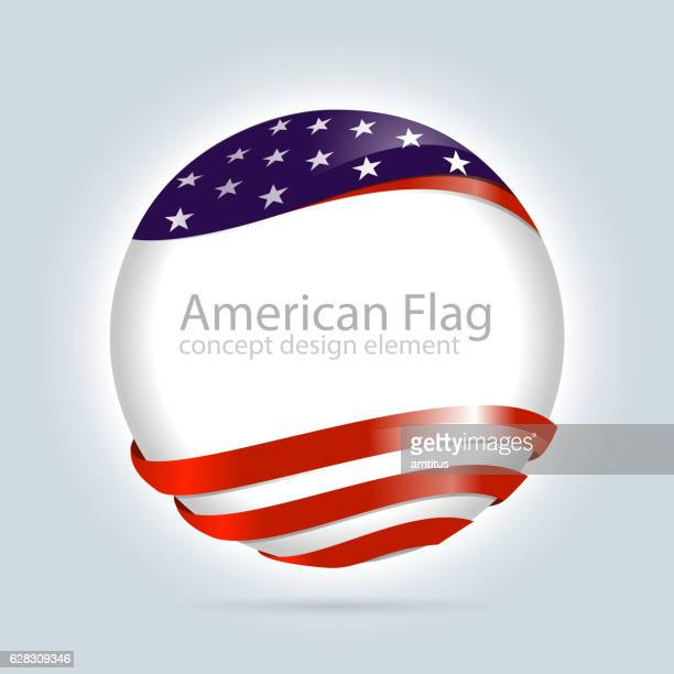 American flag design element