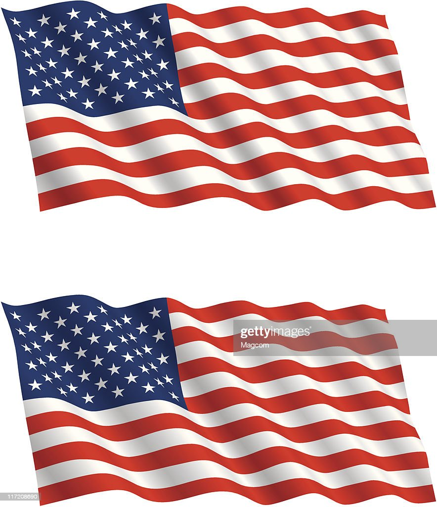 American Flag Flying in the Wind 2
