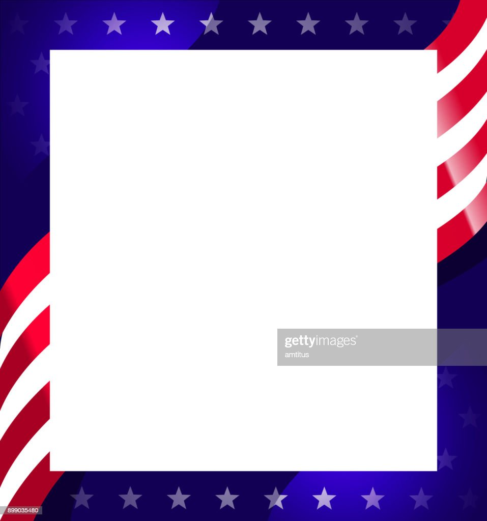 American Flag Frame Vector Art | Getty Images