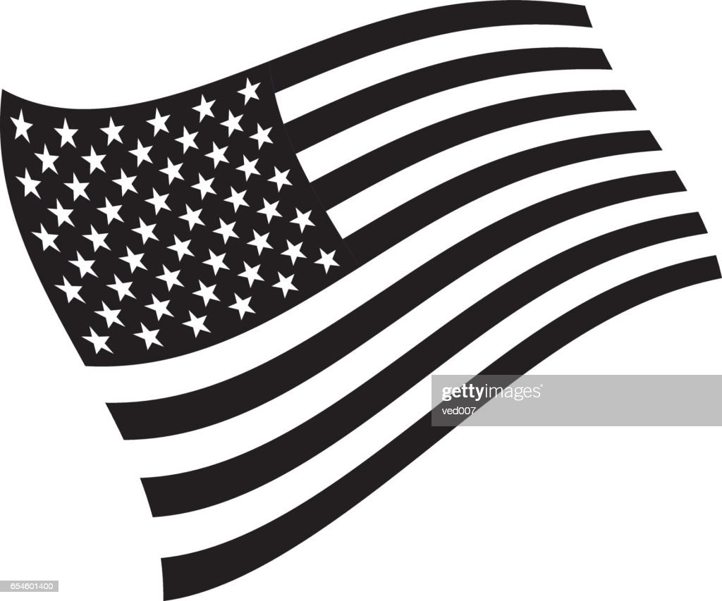 American flag grayscale