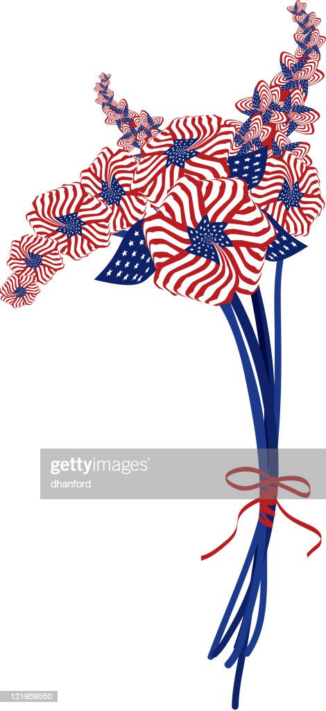 American Flag made into Flowers