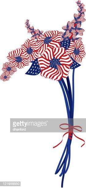 Amerikanische Flagge in ein Blumen