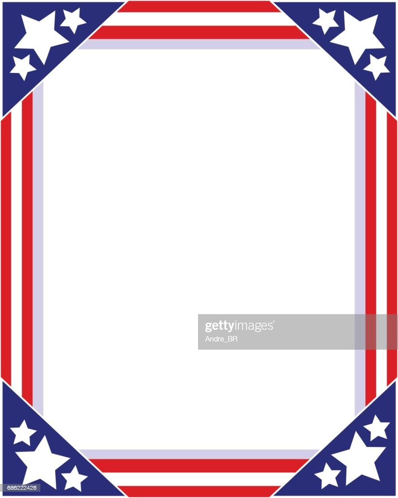 American flag Patriotic picture frame
