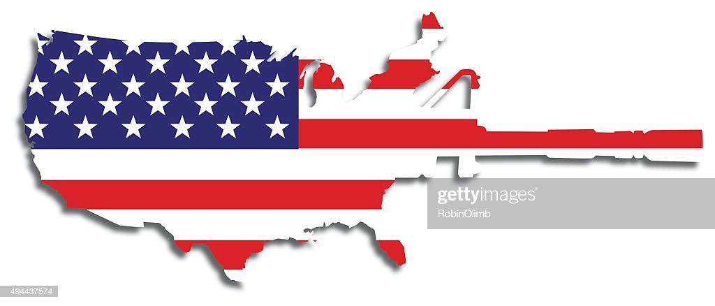 American Flag Semi-automatic Weapon